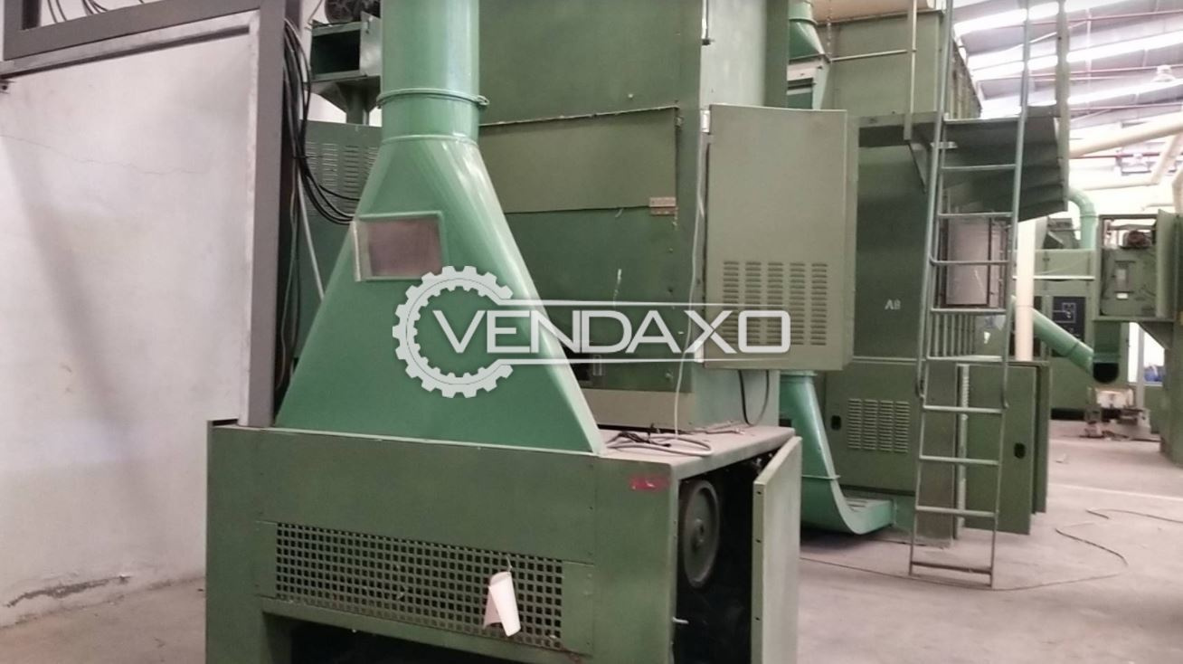 Trutzschler RFK-BEC-LVSA 375 Waste Cleaner Machine - Width - 1200 mm