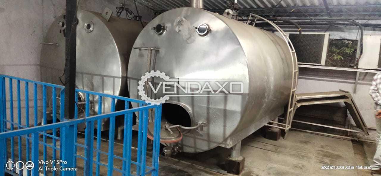 For Sale Used Bombay Milk Storage Tank - 3000 Liter