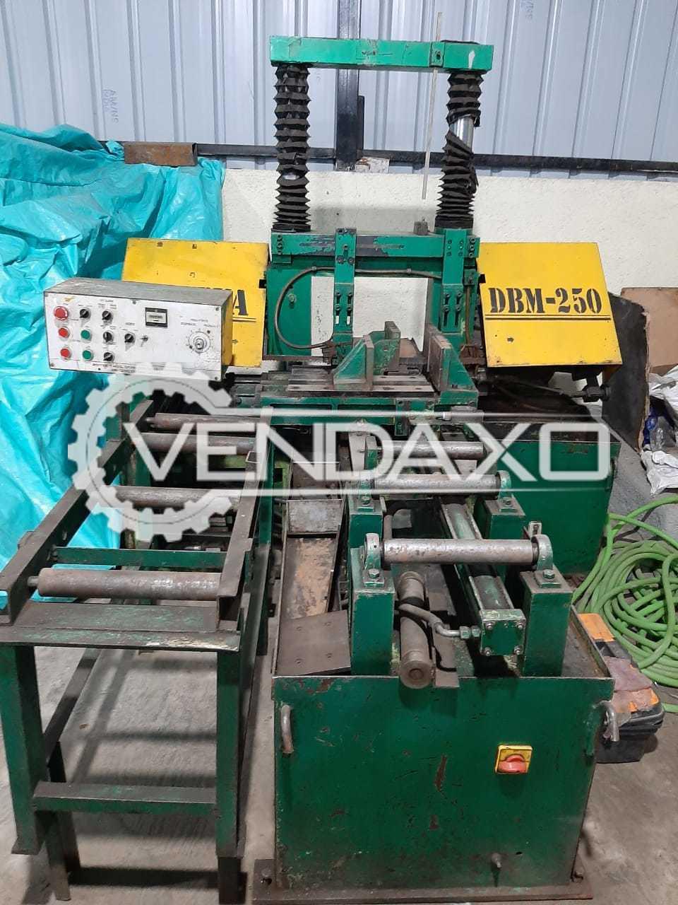 For Sale Used DBM-250 Hydraulic Bandsaw Machine - 200 mm