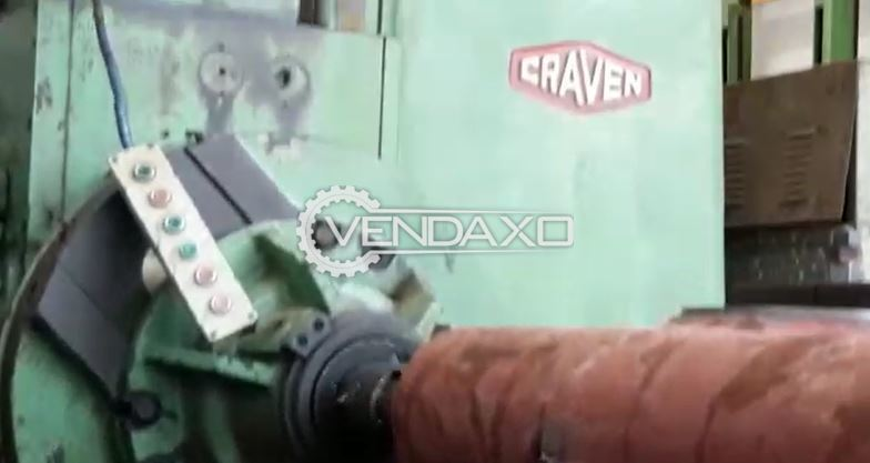 Craven H Type Boring Machine - Spindle Size - 150 mm