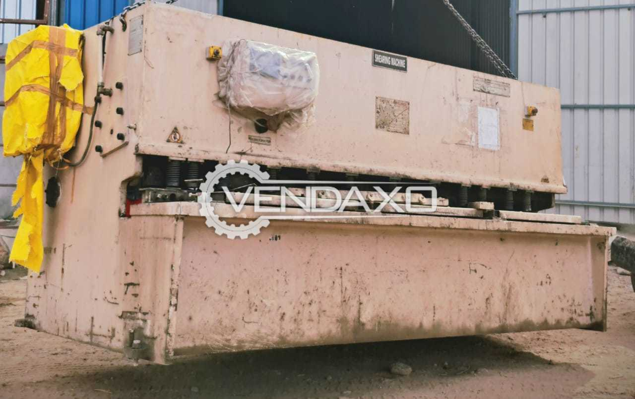 For Sale Used Shearing Machine - 3200 x 10 mm