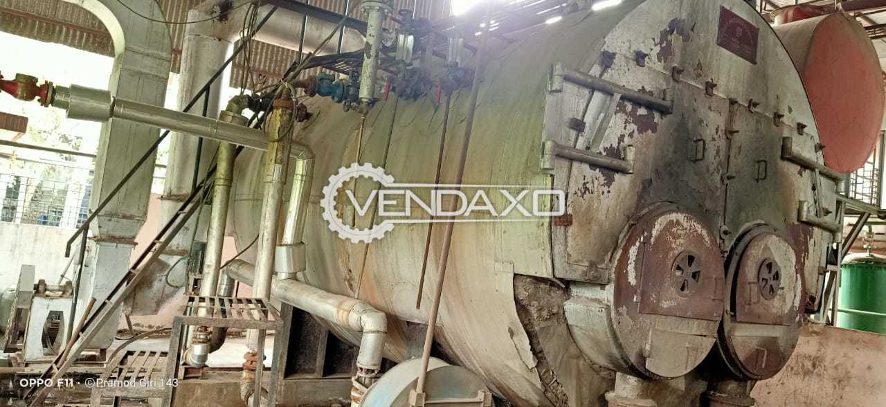 For Sale Used IBR Steam Boiler - 3 Ton With Chimney