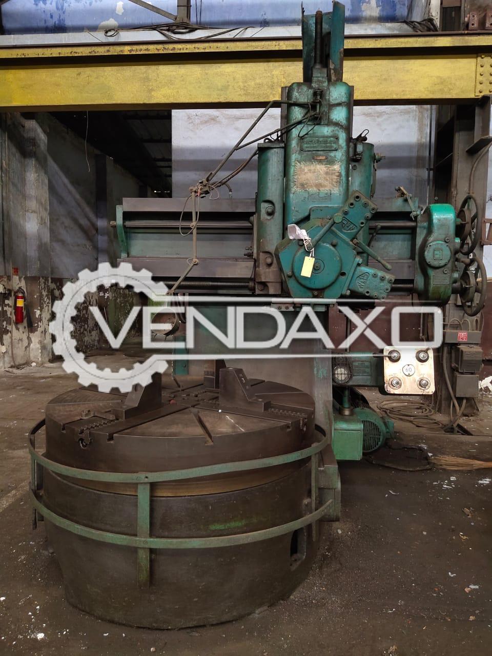 Webster & Bennett Vertical Turret Lathe VTL - 1500 mm