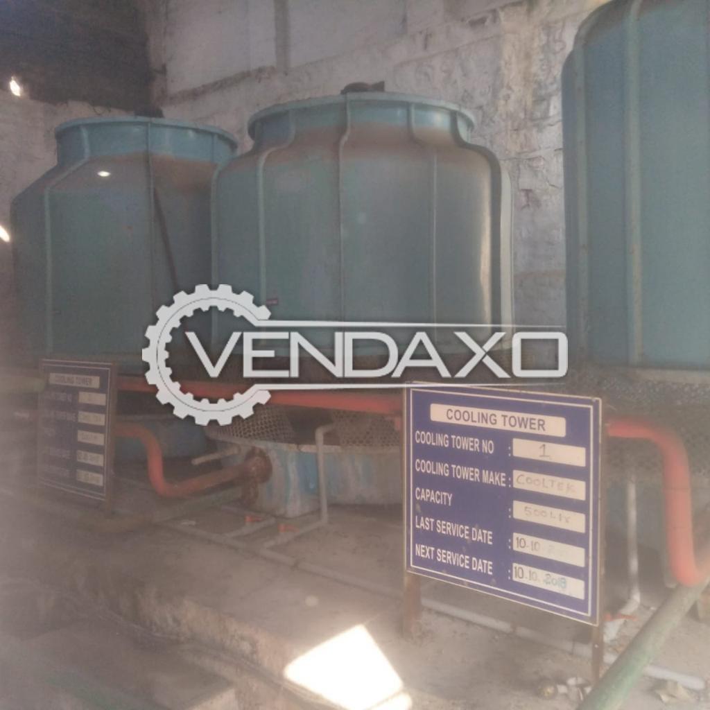 For Sale Used 3 Set OF Cooling Tower - 500 Liter, 2018 Model