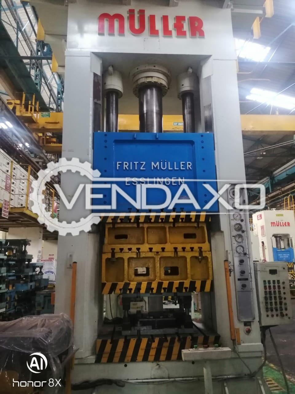 Muller Hydraulic Power Press - 350 Ton