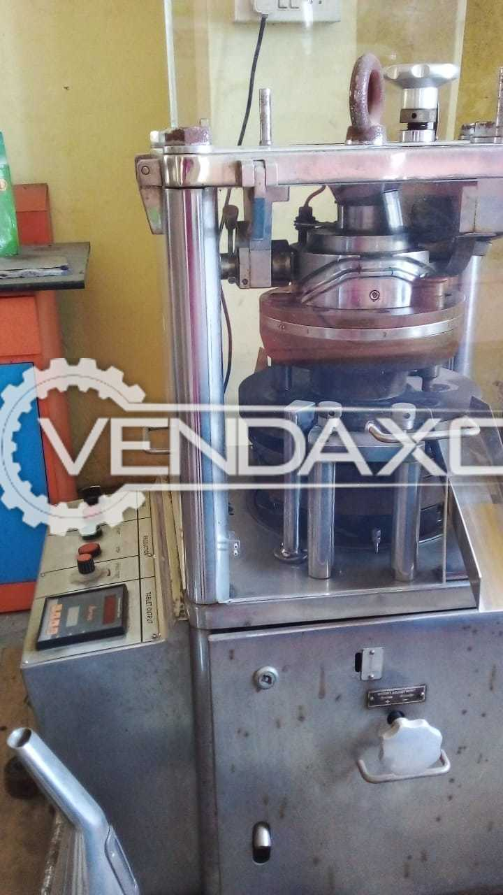 For Sale Used Double Rotary Lab Press Machine - 2 Layer