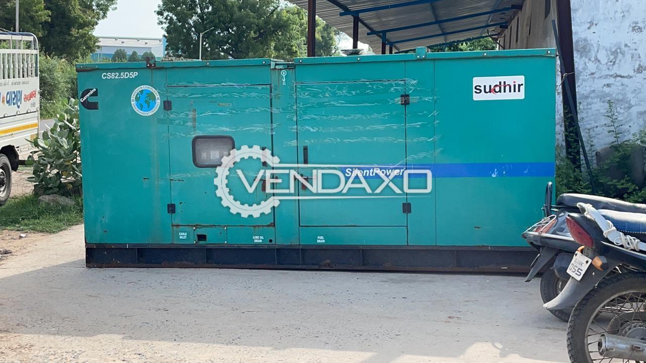 Cummins Sudhir Diesel Generator - 82 Kva
