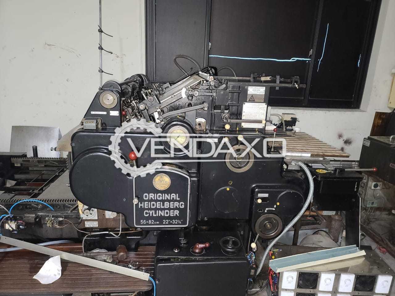 Heidelberg SBB Cylinder Die Cutting Machine - 56 x 82 CM