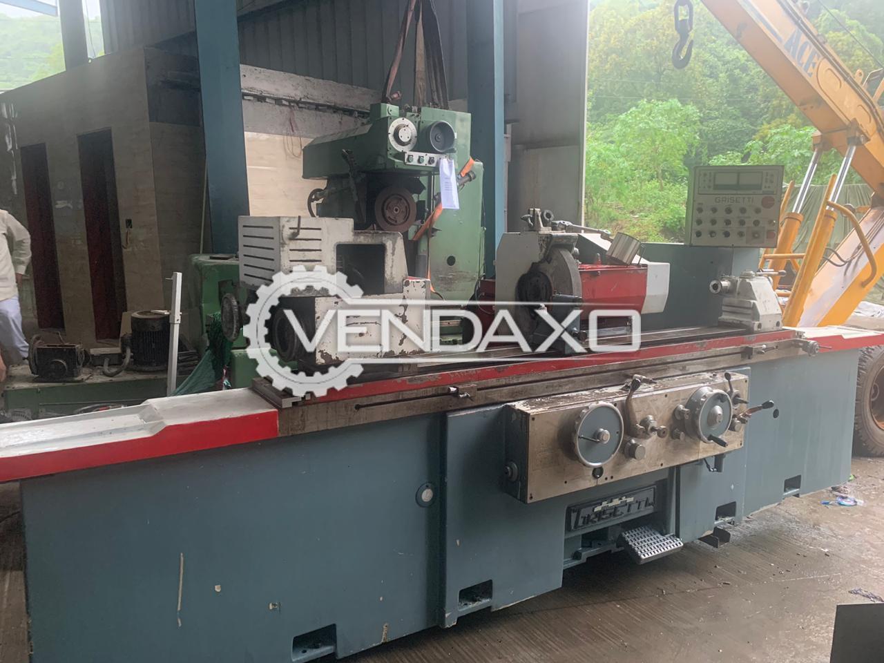 Grisetti RU/AUSR Cylindrical Grinding Machine - Admit Between Center - 1550 mm