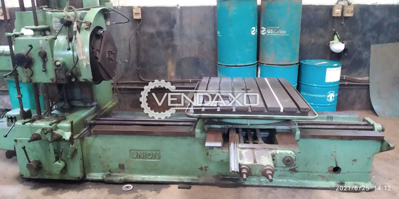 WMW Union Boring Machine - Spindle Size - 80 mm