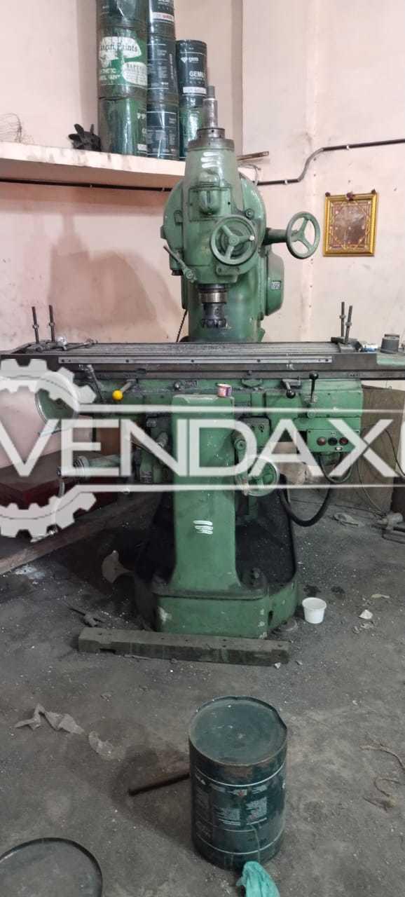 HMT M3 Milling Machine - Table Size - 1600 x 360 mm
