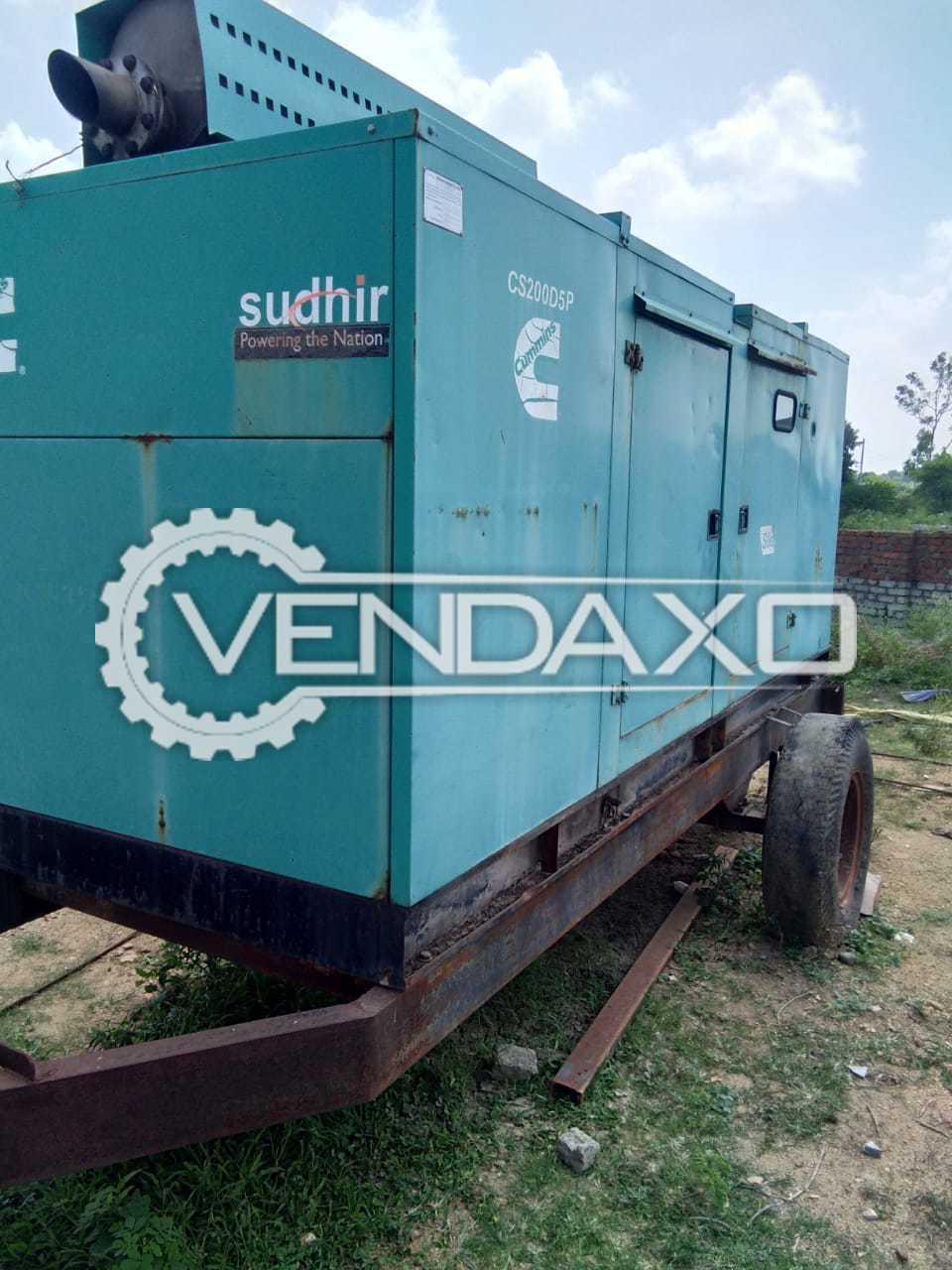 Cummins Sudhir CS200D5P Diesel Generator - 200 Kva, 2011 Model