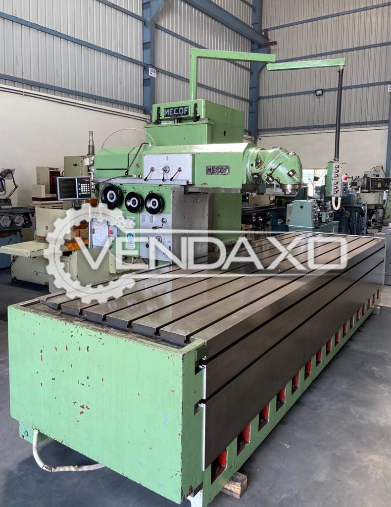 Mecof CS10 Bed Milling Machine - Table Size - 4000 x 1200 mm