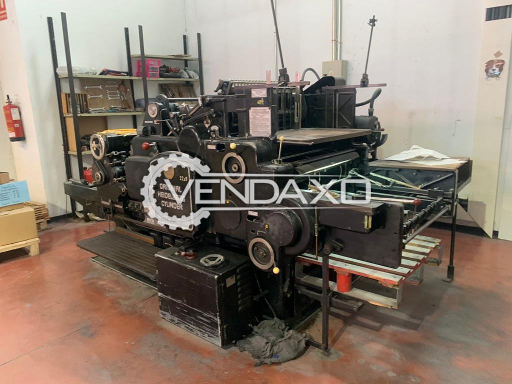 Heidelberg SBG Cylinder Die Cutting Machine - 22 x 30 Inch