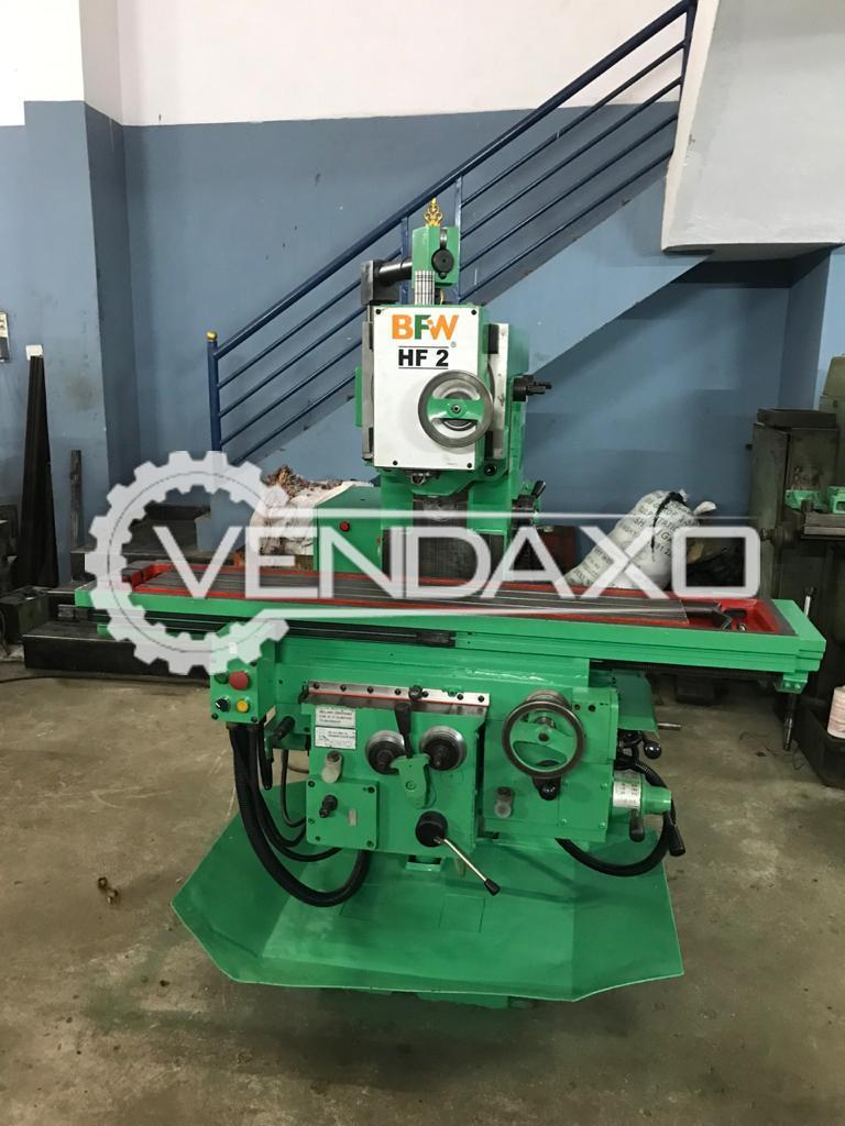 BFW HF-2 Milling Machine - Table Size - 1550 x 630 mm