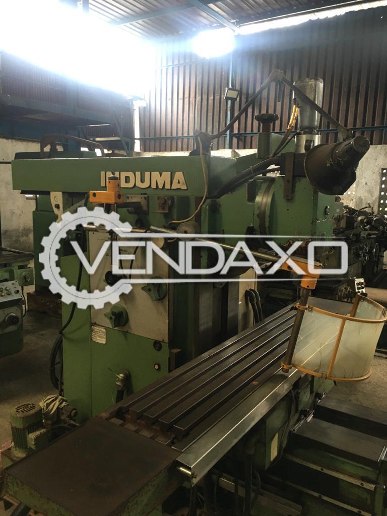 Induma Milling Machine - Table Size - 1600 x 350 mm