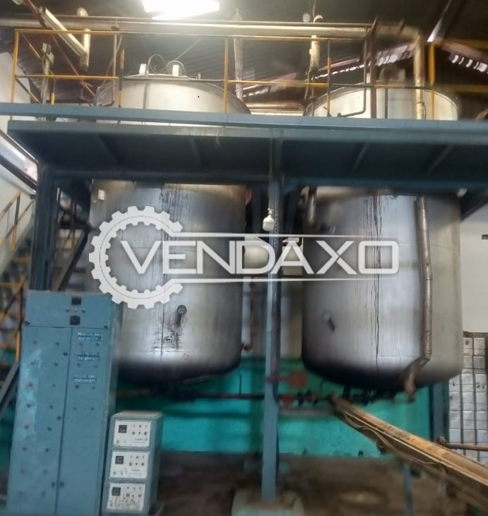 For Sale Used 3 Set OF Vanaspati Churn Packing & Filling System - 3 & 10 Ton