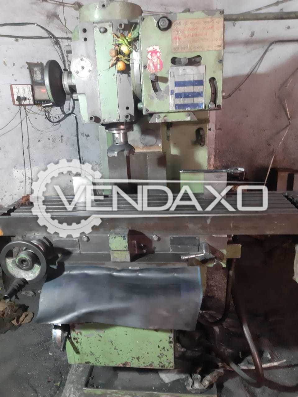 For Sale Used Milling Machine - Table Size - 1200 x 350 mm