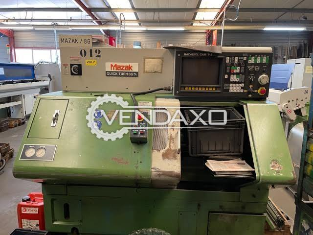 Mazak Quick Turn 8G CNC Turning Center - Max. Turning Length - 250 mm