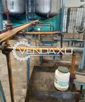 For Sale Used 2 Set OF Vanaspati Poly Jar & 2 Set OF Tin Filling Point