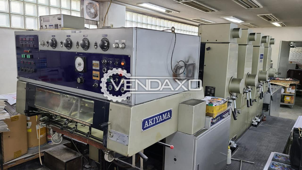 Akiyama Hi-Ace 428 Offset Printing Machine - 20 x 28 Inch, 4 Color