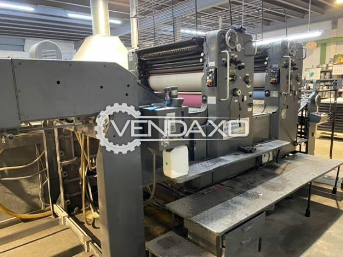 Heidelberg SM 102ZP Offset Printing Machine - 72 x 102 CM, 2 Color