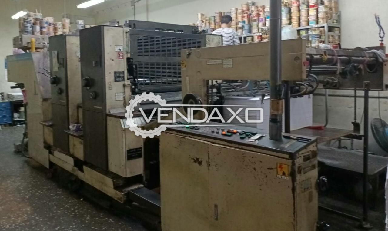 Mitsubishi 3F-2 Offset Printing Machine - 28 x 40 Inch, 2 Color