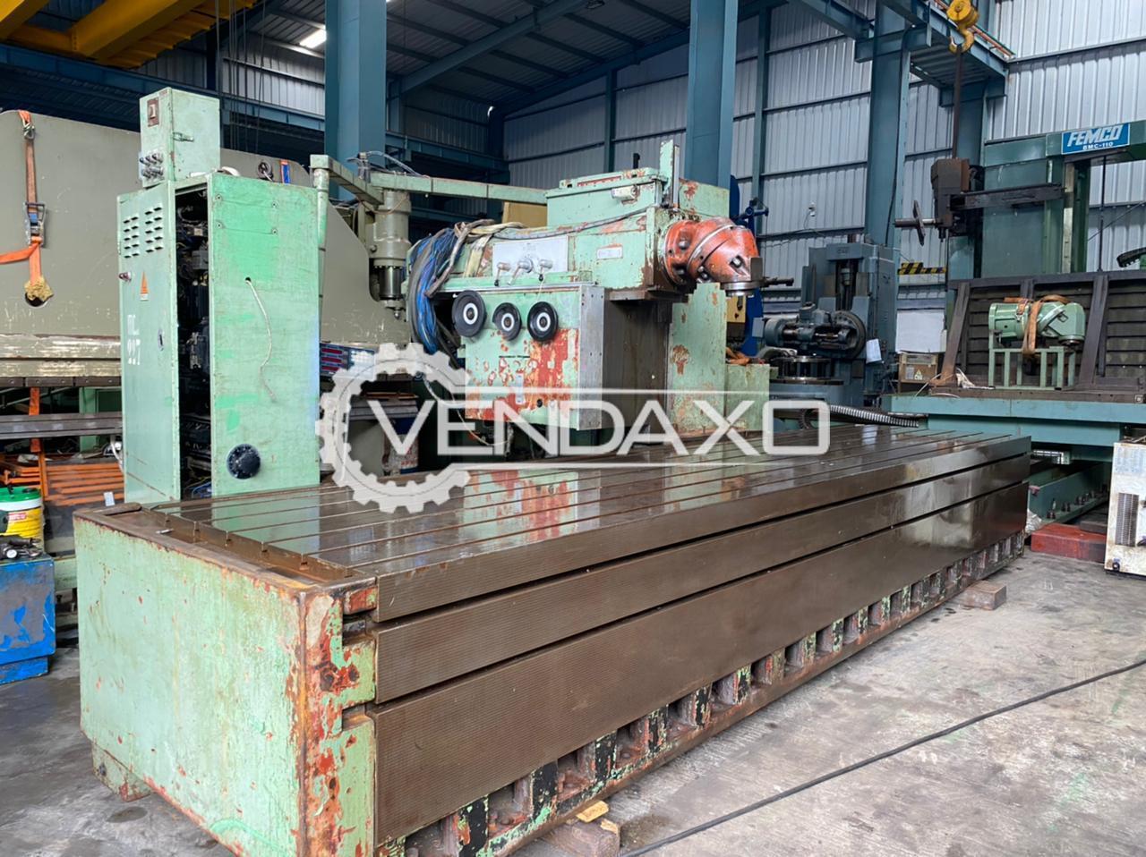 Mecof Elga Milling Machine - Table Size - 5200 x 1200 mm