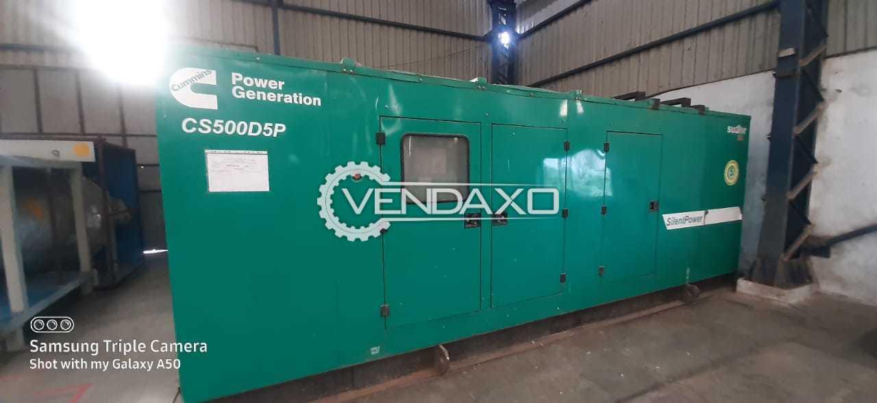 Cummins CS500D5P Diesel Generator - 500 Kva, 2010 Model