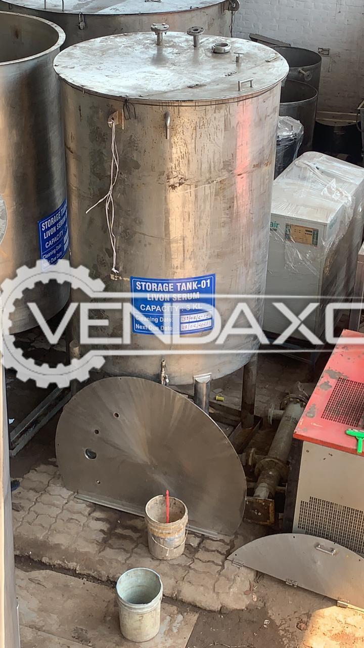 For Sale Used Storage Tank - 3 KL