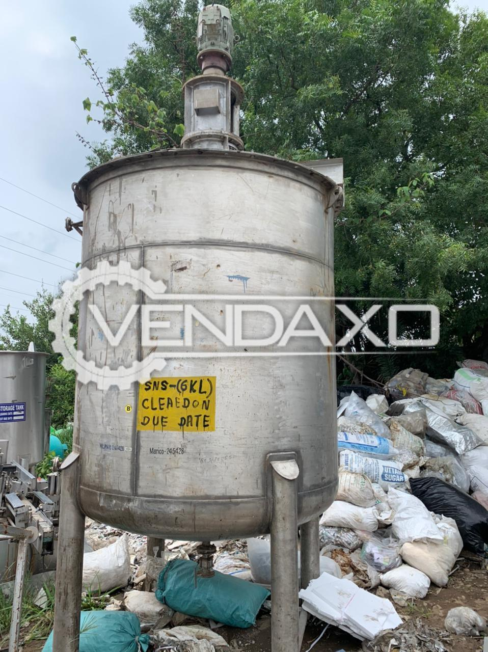 For Sale Used SNS Storage Tank - 6 KL