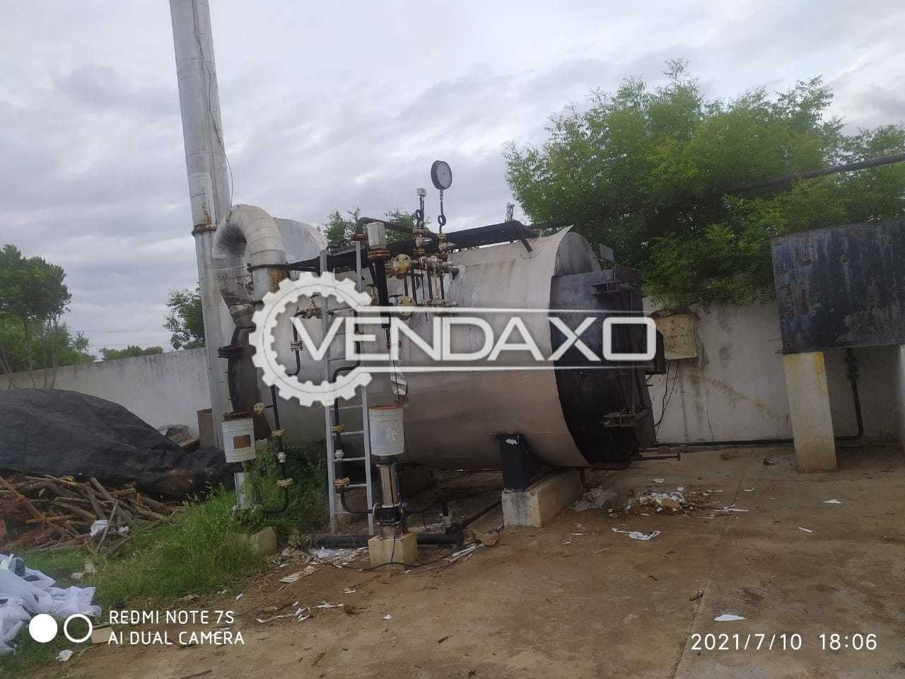 For Sale Used Wood Coal Fired Steam Boiler - 2 Ton