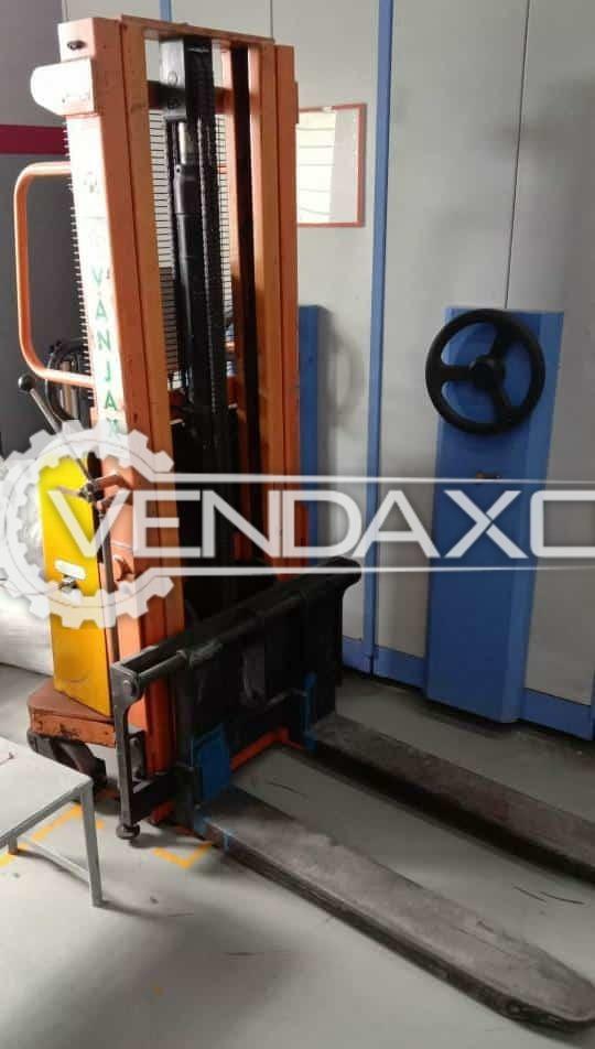 Vanjax Electric Semi Stacker Machine - 1.5 Ton