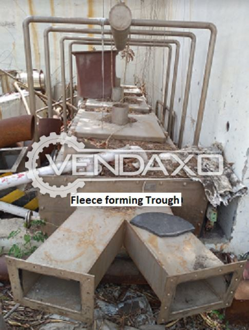 For Sale Used Fleece Forming Trough Machine - 10 TPD