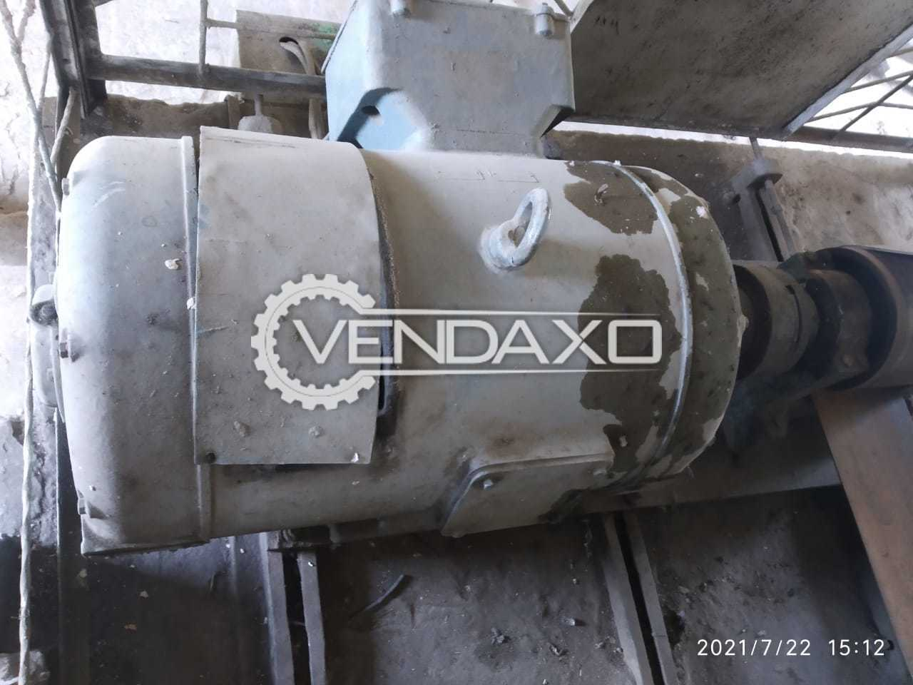 Siemens Strip Wound Rotor & Wire Wound Stator Slipring Motor - 150 HP