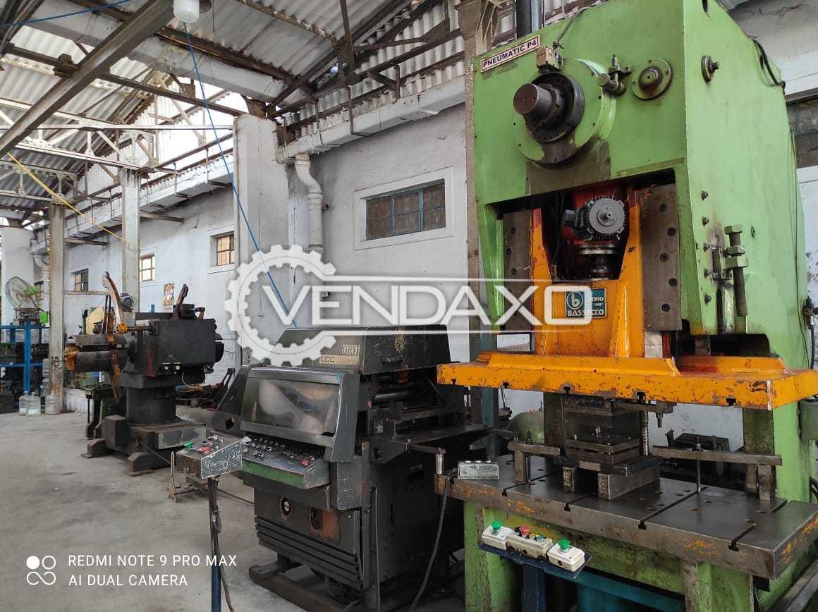 Bassecco Pneumatic Power Press - 160 Ton