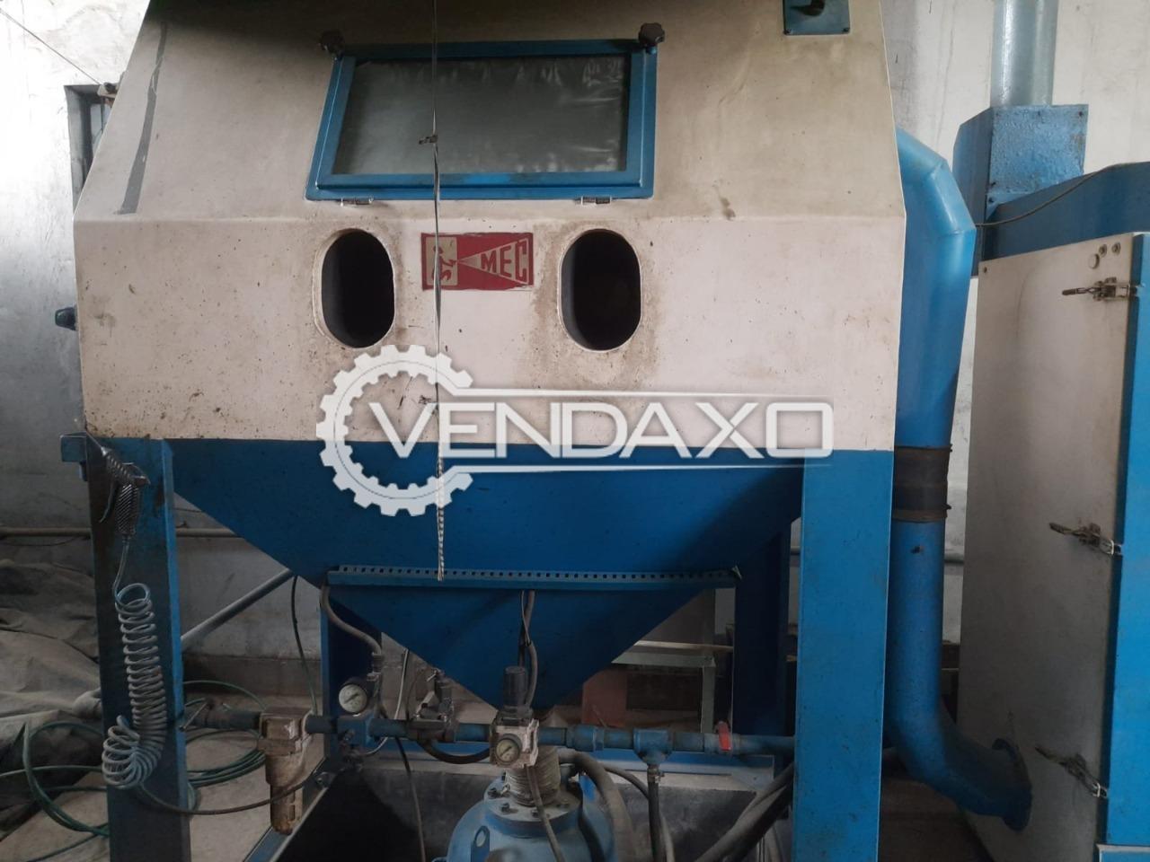 MEC Jodhpur PR-150120-SPL Pressure Blasting Cabinet With Dust Collector & One Additional Boron - Nozzle - 6 mm