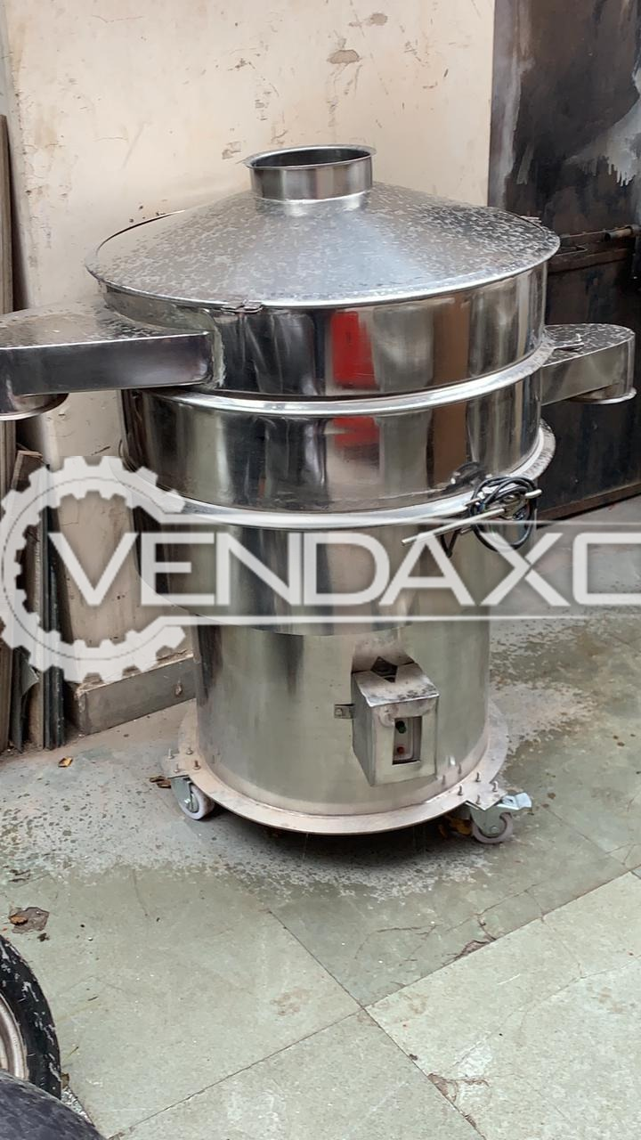 For Sale Used SS Double Decker Sifter - 30 Inch, GMP Model