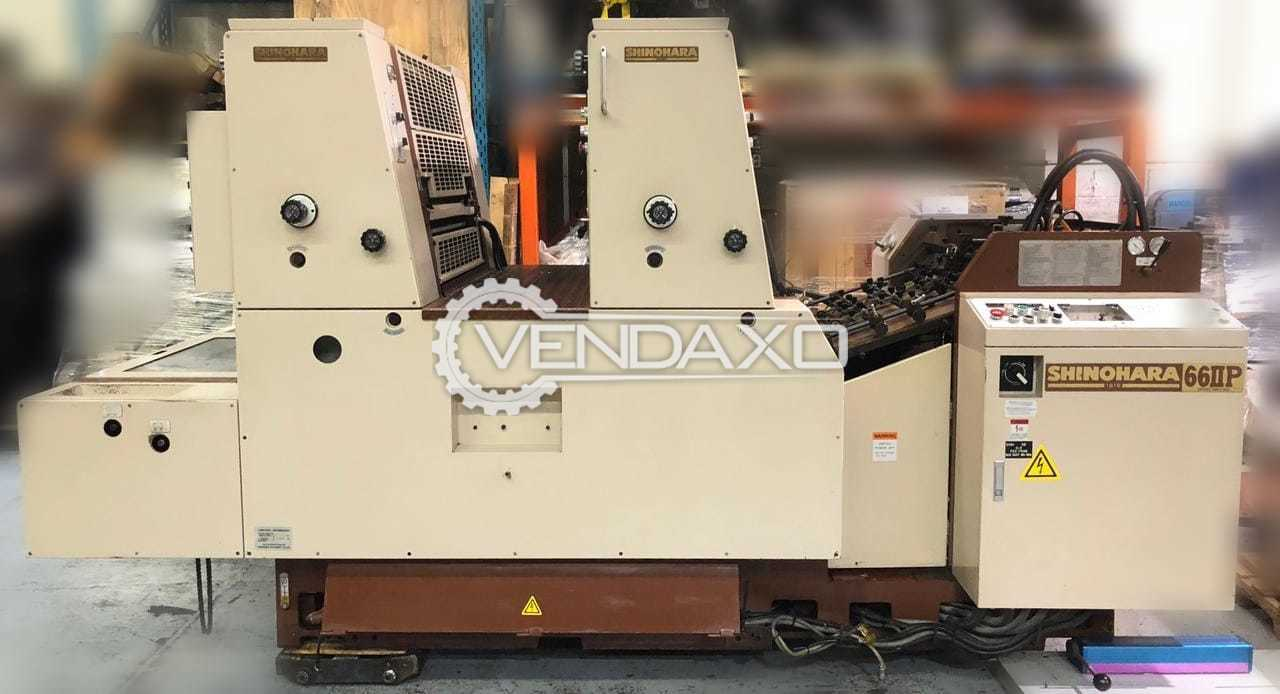 Shinohara 66IIP Offset Printing Machine - 20 x 26 Inch, 2 Color