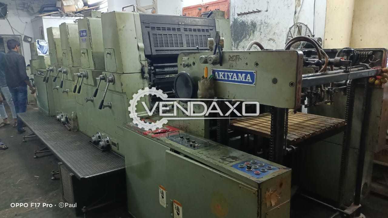 Akiyama 428 Offset Printing Machine - 20 x 28 Inch, 4 Color