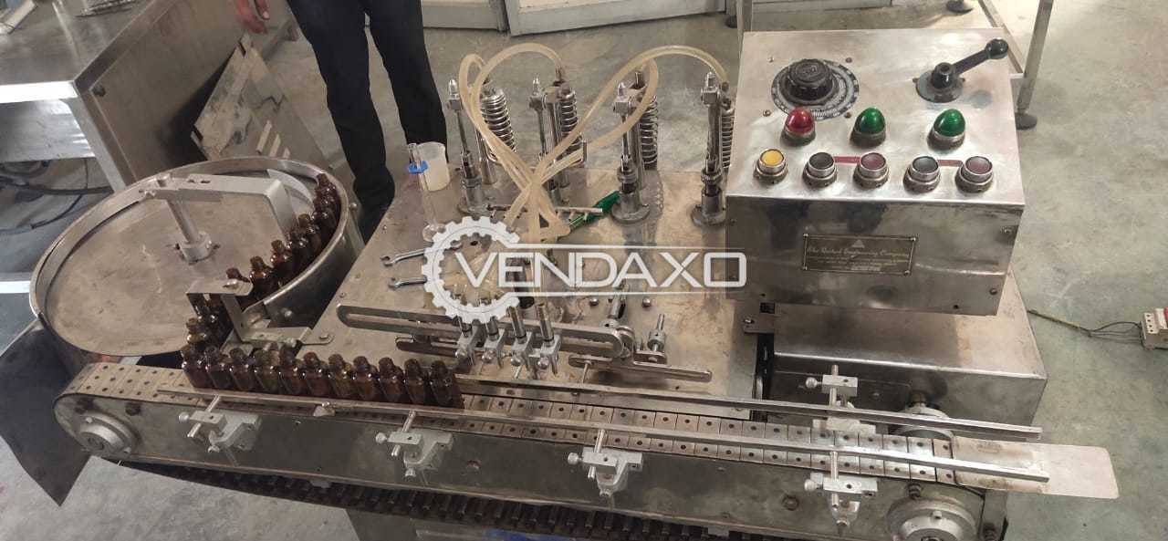 United Engineering Eye Drop Filling Machine - Automatic, 4 Head