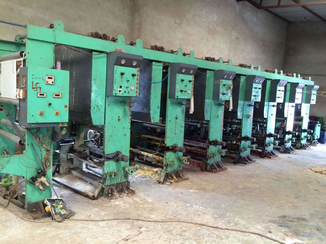 7 colour Rotogravure Printing Machinery set