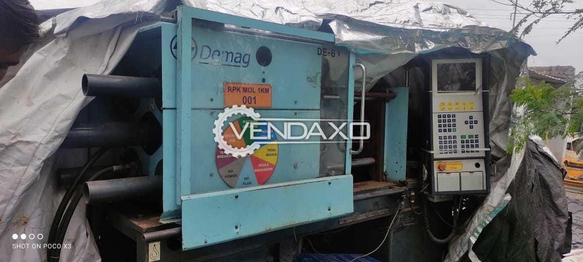 L&T Demag DT60-80 LNC4E Injection Moulding Machine - 80 Ton, 2002 Model