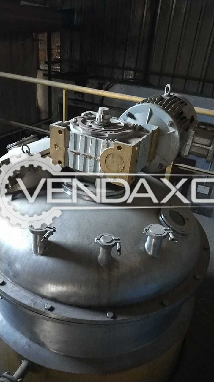 SS 316 Process Vessel - 1000 Liter With MS Jacket, Flame Proof Motor - 10 HP & Gearbox