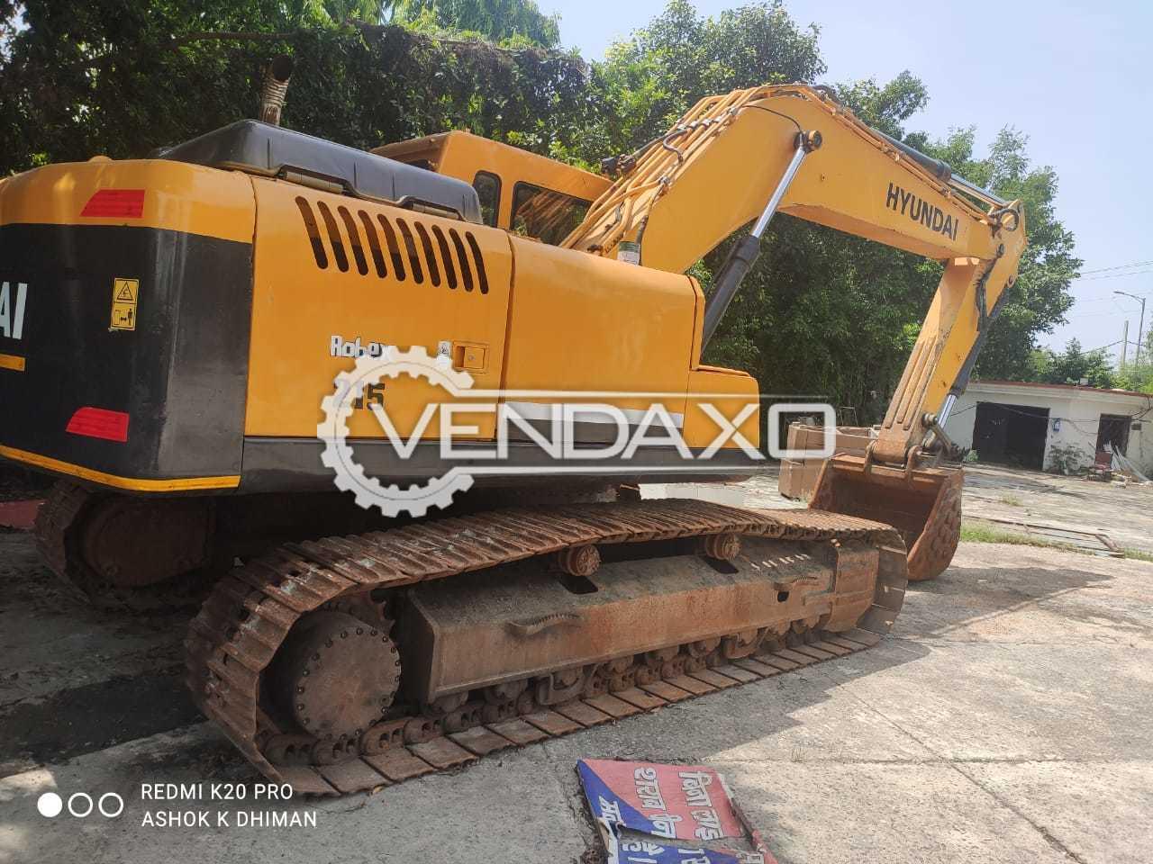 Hyundai 215 Robex Excavators - Power - 140 HP, 2018 Model