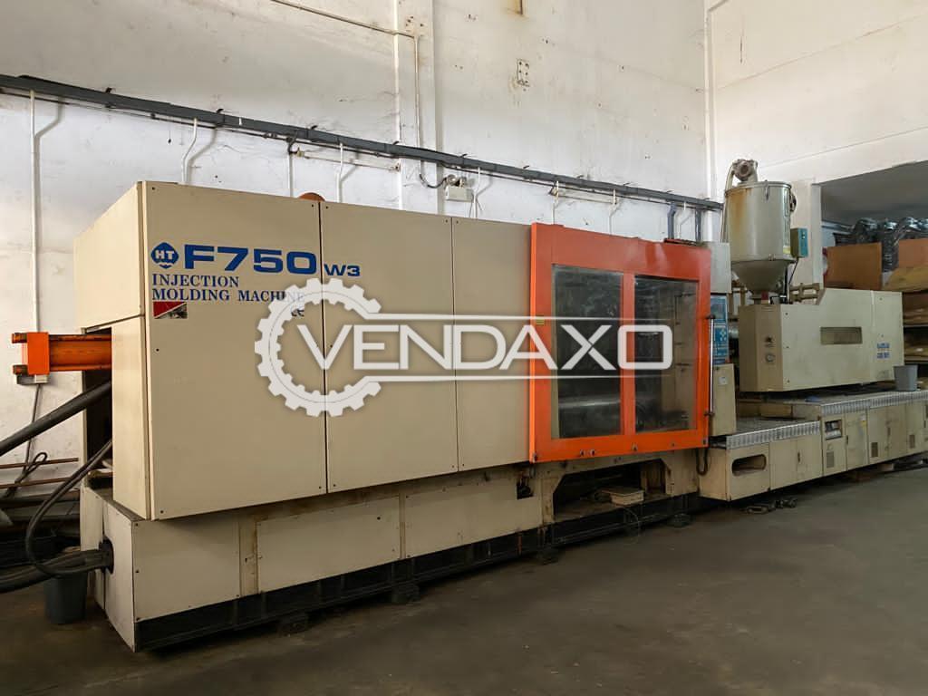 China Make F750W3 Plastic Injection Moulding Machine - 750 Ton, 2011 Model