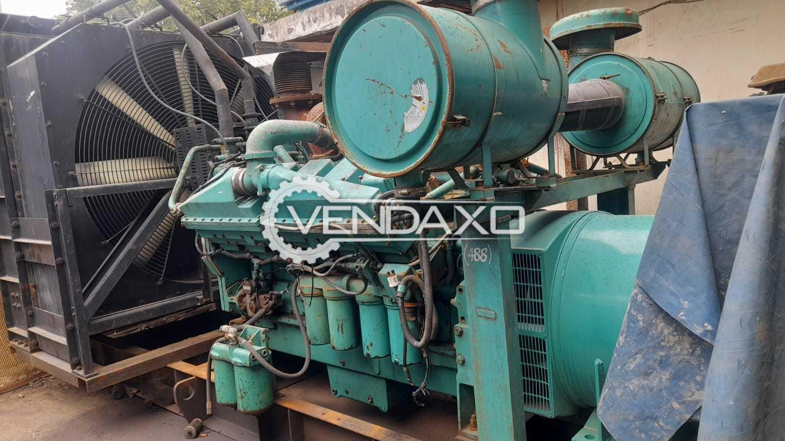 Cummins KTA-38-G5 Diesel Generator Engine - 1010 Kva, 2003 Model