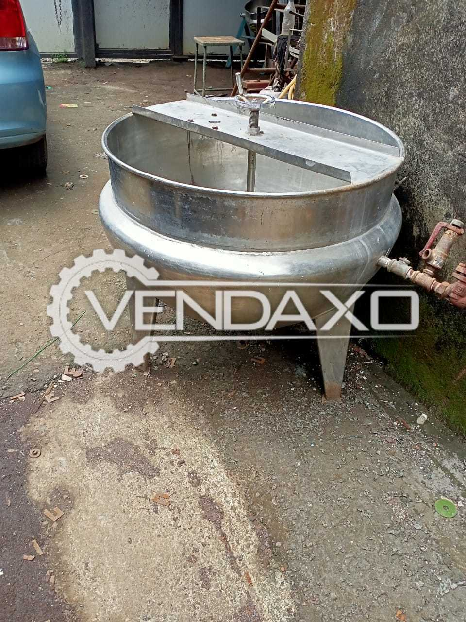 SS Jacketed Mixing Vessel - 250 Liter