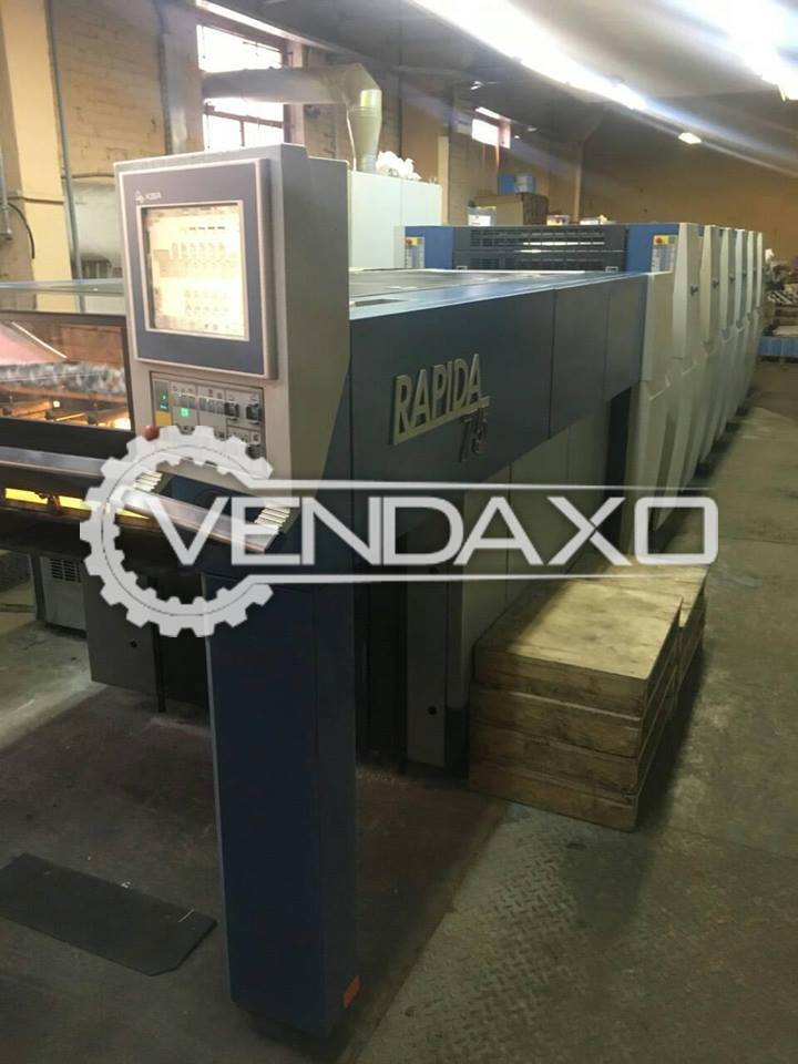 KBA Rapida 75-5 Offset Printing Machine- 5 Color