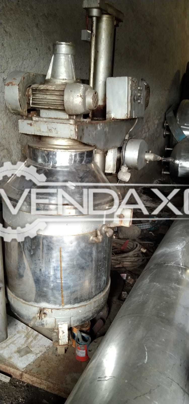SS 316 Planetary Mixer - 500 Liter With Gearbox & Flameproof Motor